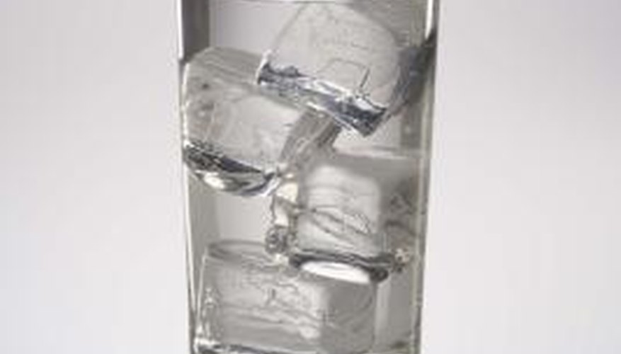 Crush ice without a blender by using a hammer.