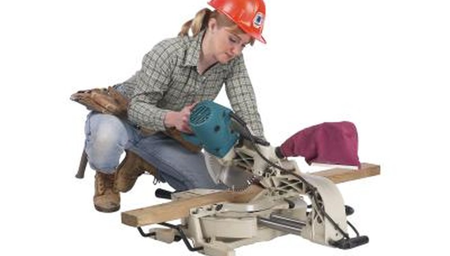 A mitre saw is the only real option when it comes to cutting wood at an angle.