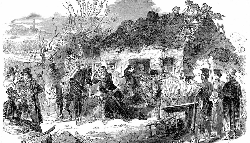 Evicted from their homes during the Great Famine, many Irish sought shelter in the U.S.