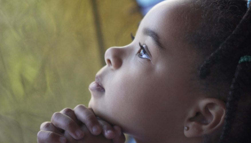 Young children who pray often feel closer to a higher power.