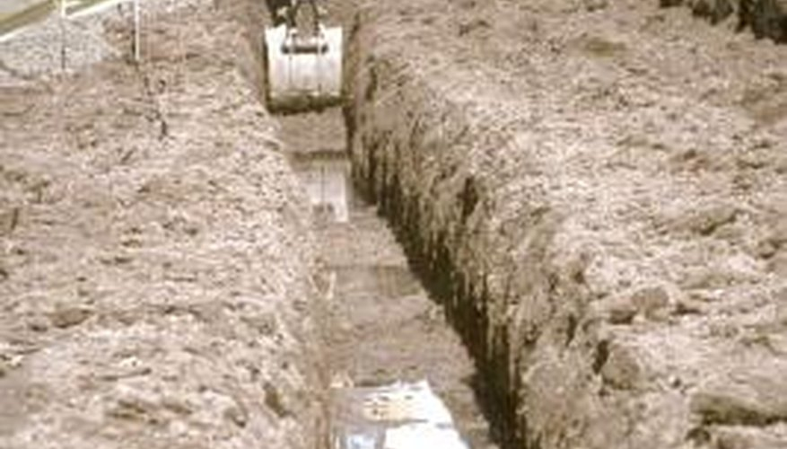 You don't need a backhoe to trench around your home.