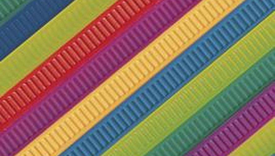 Making ribbon hard helps the ribbon hold its shape.