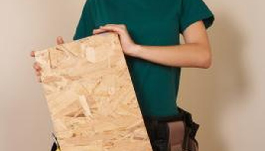 Plywood is a common building material.