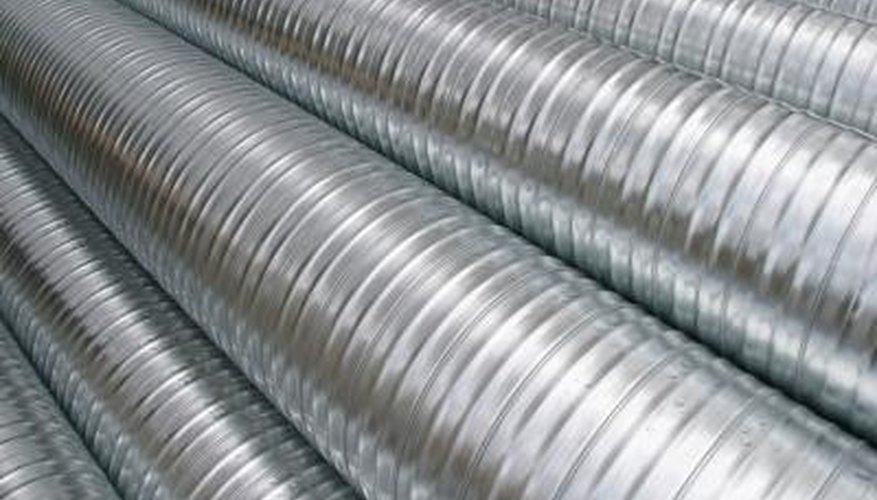 Galvanised metal can appear shiny.