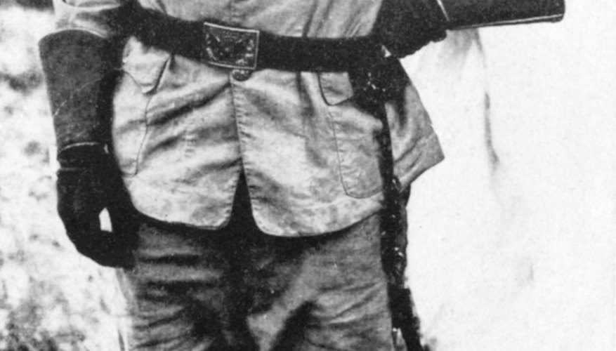 Teddy Roosevelt in his Spanish-American War days was the leader of the Rough Rider regiment.