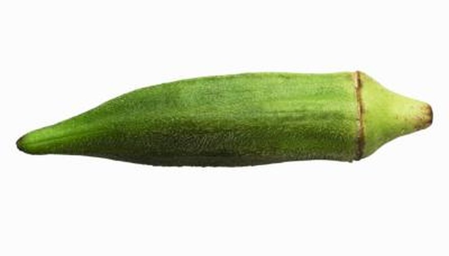 Fresh okra should be green with few dark spots.
