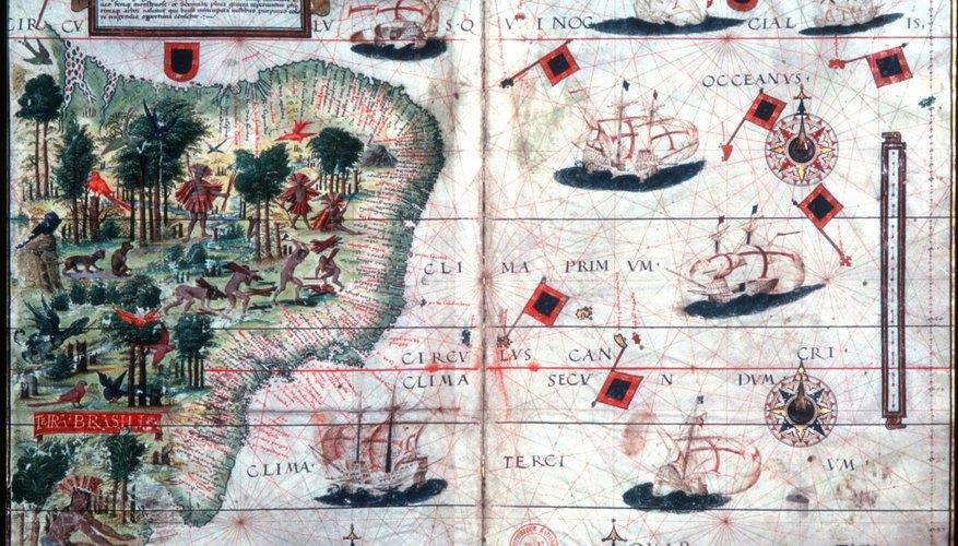 1525 map of Brazil