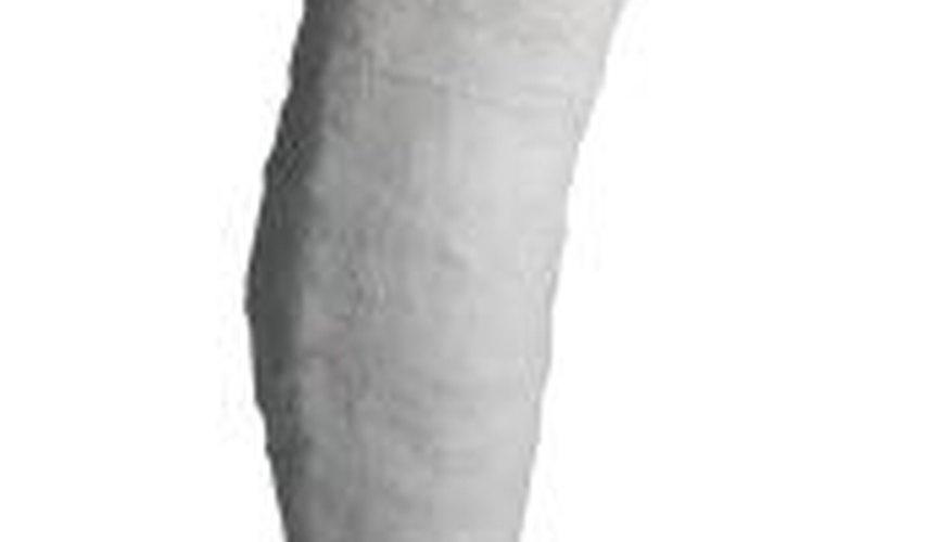 A fake leg cast allows an actor to have a realistic broken leg.