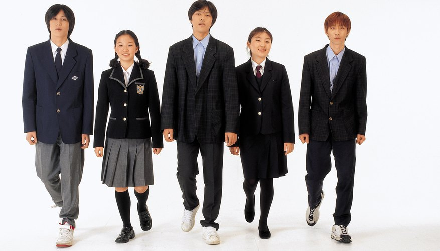 Uniforms are frequently a part of private school life.