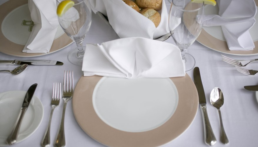 Begin with the silverware that is the farthest from your plate.