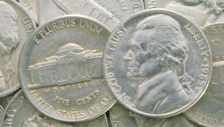 Nickels actually contain 25 per cent nickel.