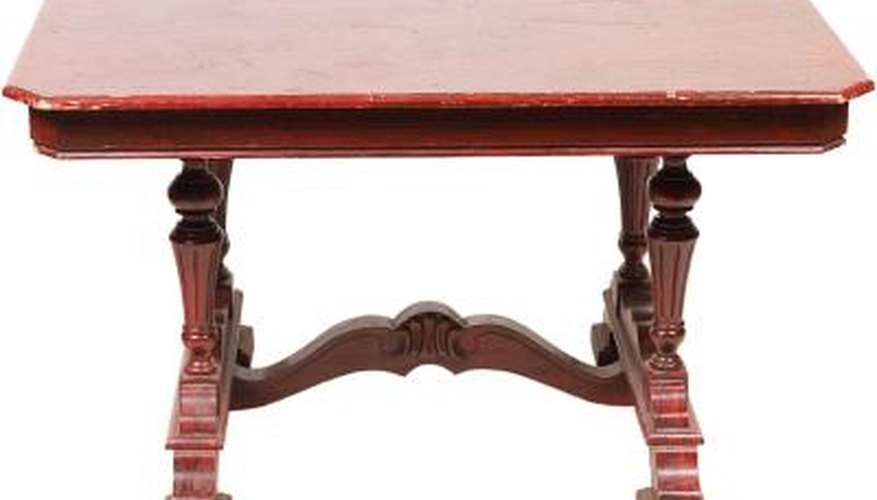 Remove white water stains and spots from your mahogany furniture carefully.