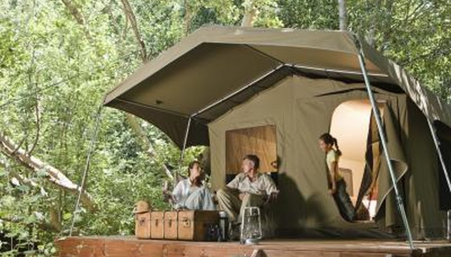 Canvas pop-up campers are easy to repair.