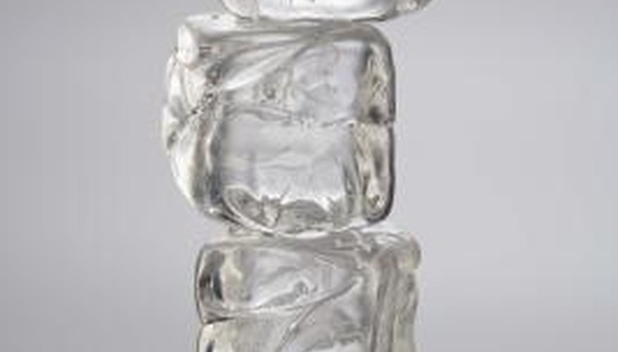 Gelatin ice cubes give you something to chew after the ice melts.