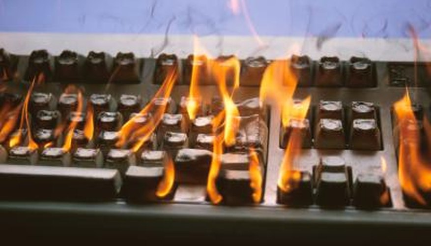 Plastic keyboards will burn after application of high heat.