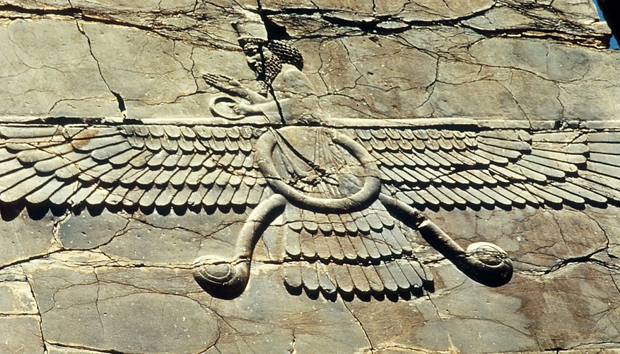 The Faravahar is a symbol of Zoroastrianism, an official religion of ancient Persia, which influenced several of today's world religions.