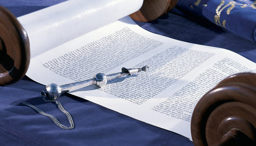 Torah scrolls are never directly touched while being read.