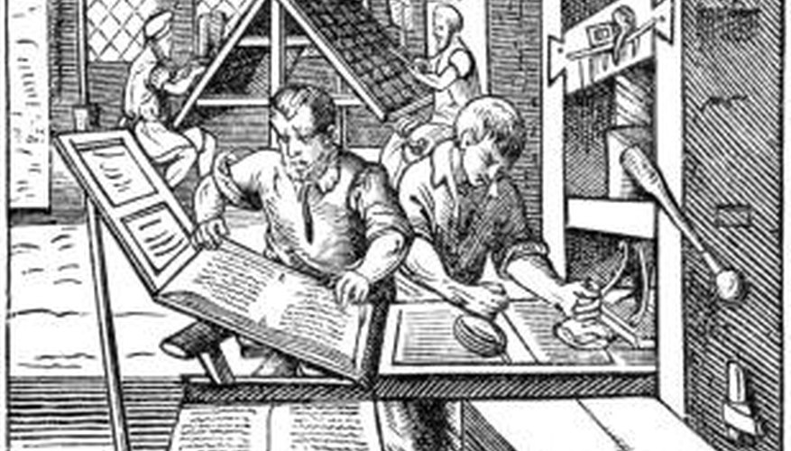 Woodcut printing is one of the earliest methods of mass printing.