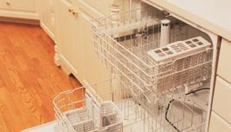 The heating element sits at the bottom of a dishwasher.