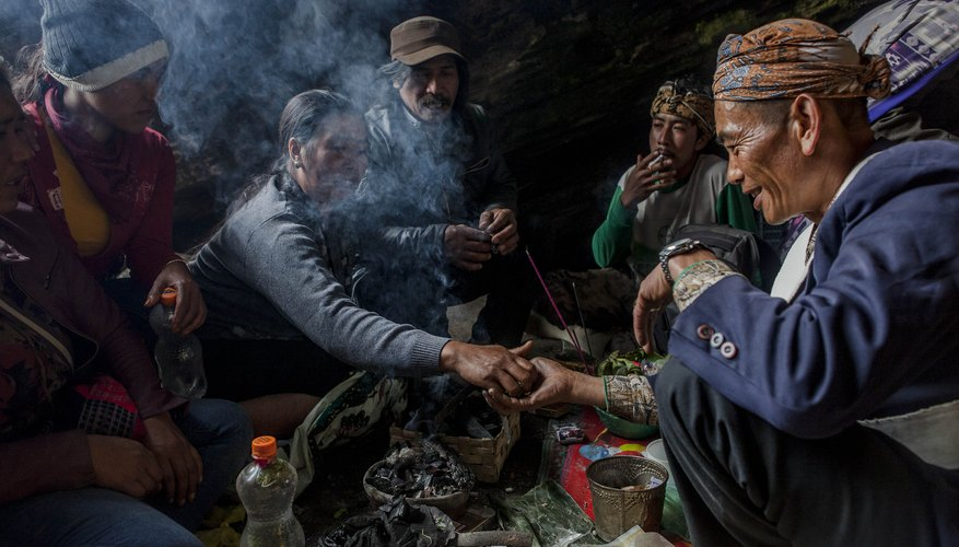 A shaman leads a ceremony in Java, Indonesia