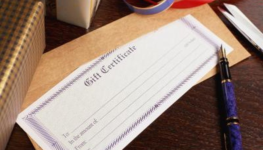 Gift vouchers are also sometimes called gift tokens.