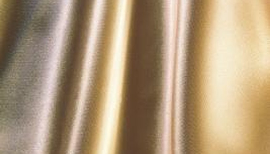 Water marks are often more apparent on light-coloured satin.