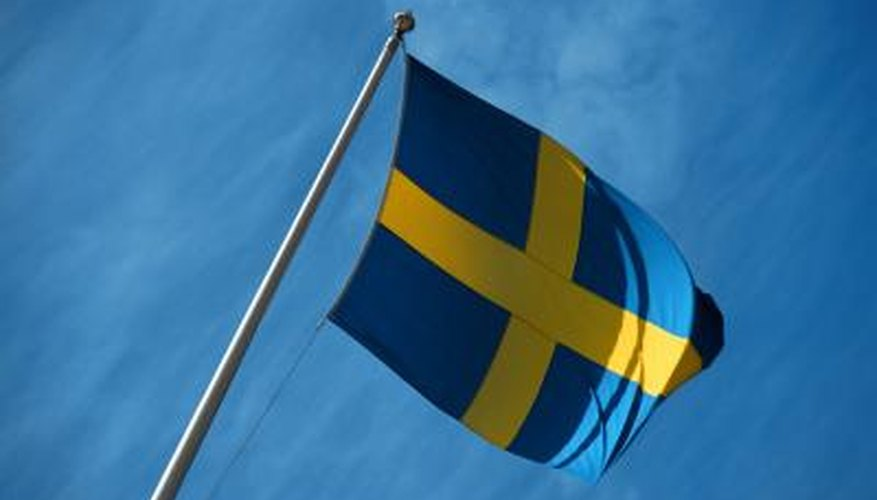 Blue and yellow designs are simple but effective choices for flags.