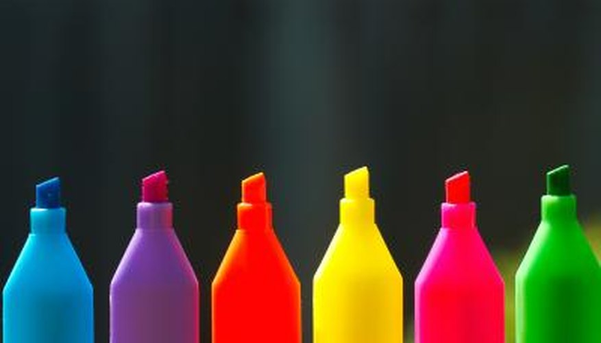 Fabric pens come in a wide variety of colours.