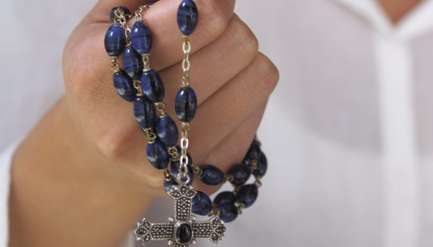 A Catholic funeral rosary is a sequence of prayers counted on rosary beads.