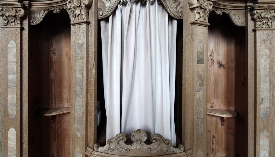 Reconciliation, the Penance sacrament, begins in a Catholic confessional