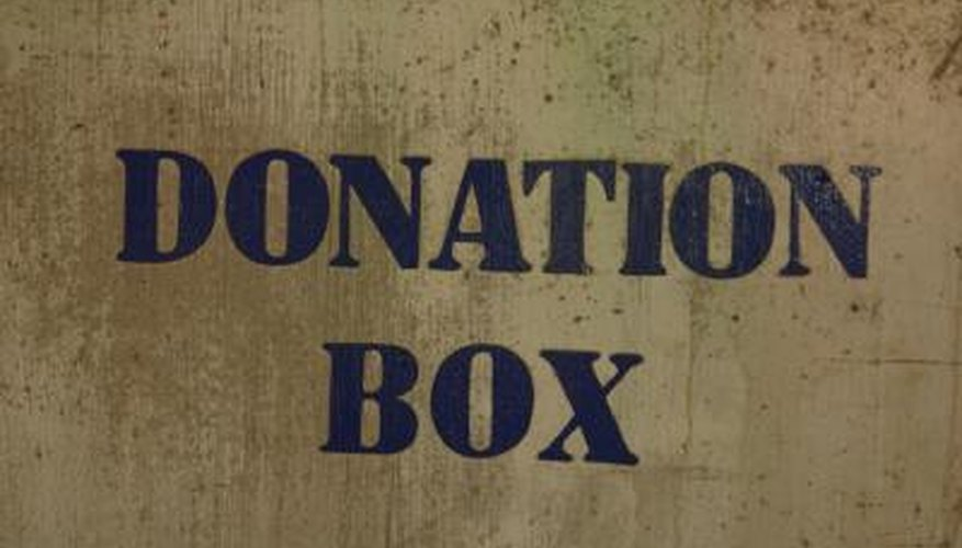 Donation boxes are often used at charity events.