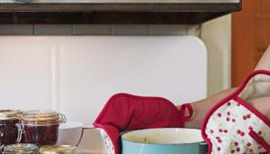 Grease splatters and cooking oils leave behind a sticky residue on kitchen surfaces.