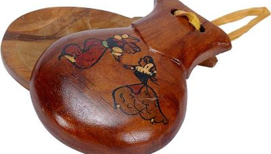 Tying castanets properly helps produce the best sound.
