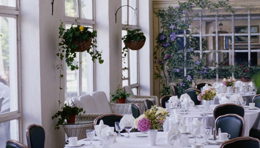 Caterers offer event food services.