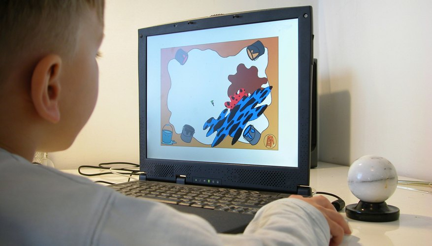 Adobe Flash files can include games for children.