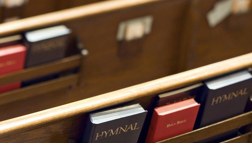 Christian hymn books.