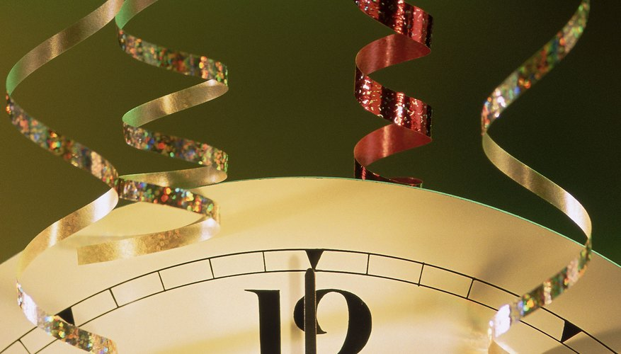 Counting down the seconds to midnight is a favorite custom on New Year's Eve.