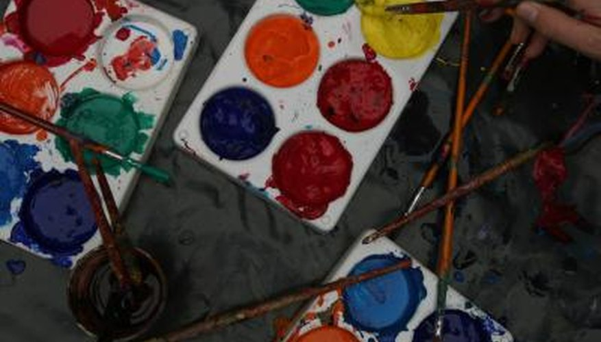 Watercolours can be pigmented in a variety of shades.