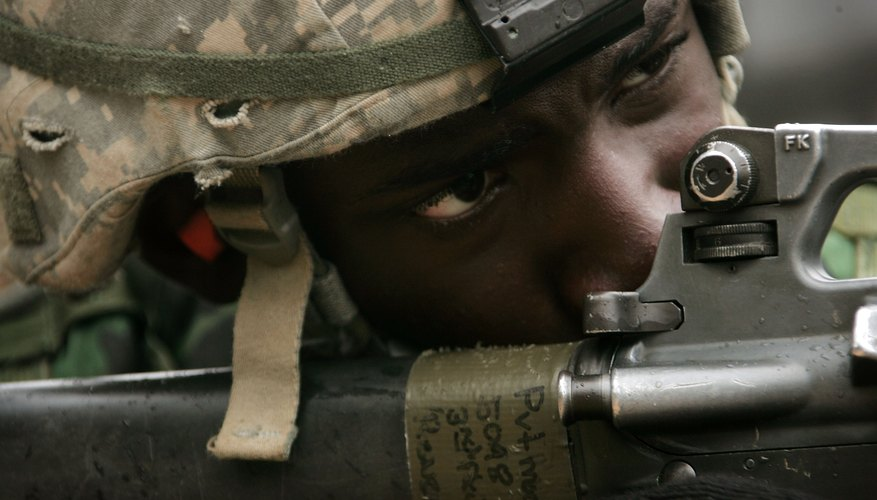 Live fire exercise during U.S. Army basic training