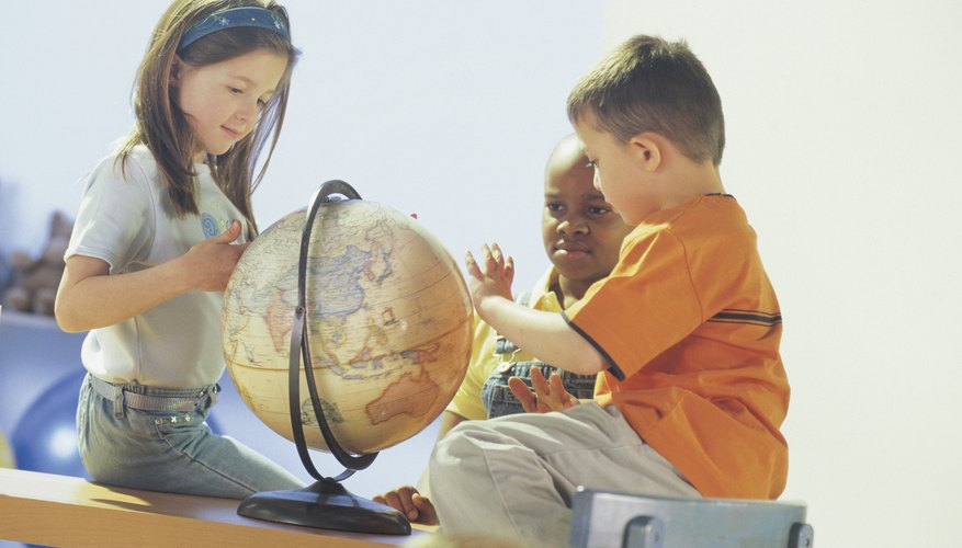 Keep a globe accessible for children to use.