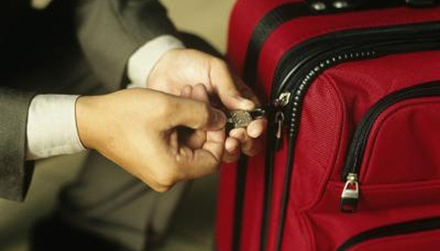 Luggage locks are an easy way to ensure no one messes with your bag.