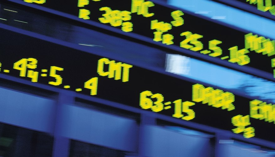 Ticker symbols identify securities available for trade.
