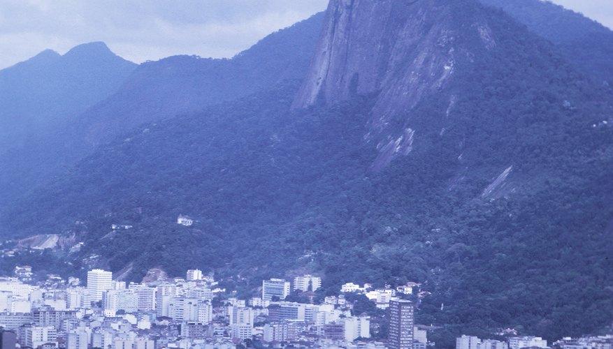 The Christ the Redeemer statue overlooks Rio de Janeiro.