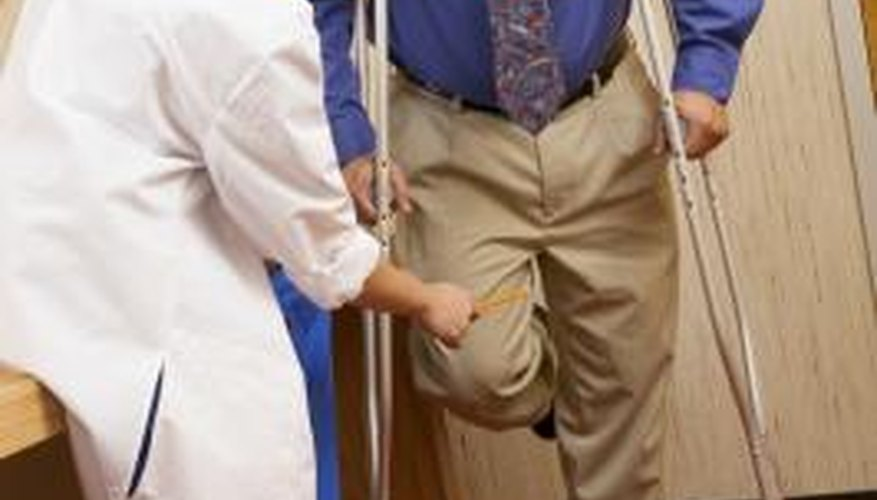 Have a professional instruct you on crutches' usage.