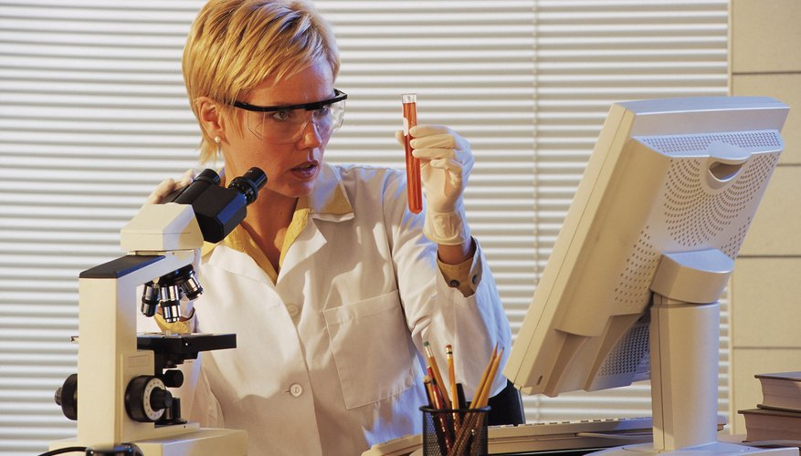 Graduates from master's programs in biology work in a variety of research settings.