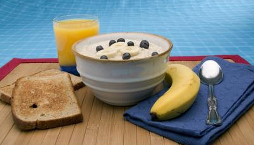 Bananas, rice cereal and toast combine for a very binding breakfast.