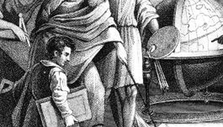 Pythagoras was a philosopher and mathematician in Ancient Greece.