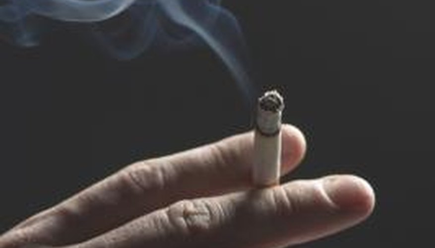 Cigarette burns can permanently melt synthetic fabrics.