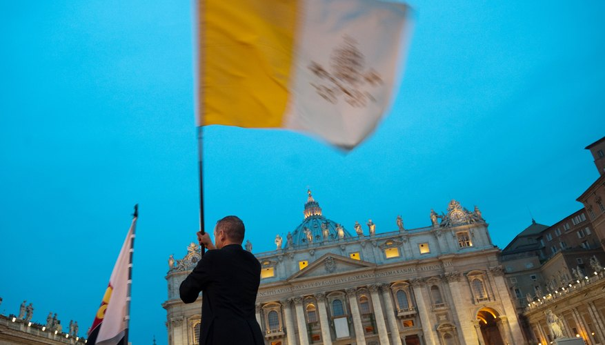 The Flag of the Vatican.