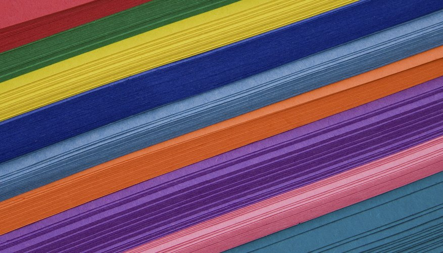 Assortment of brightly colored construction paper